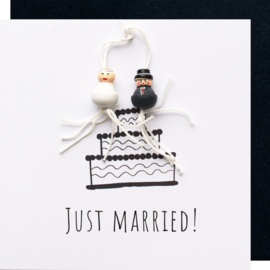 Just married zwart wit