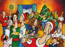 Kerst ansichtkaart kerstfeest