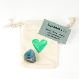 Knuffelsteen -Aquamarijn