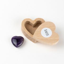 caja de corazón Amatista