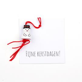 Klein kaartje Fijne kerstdagen