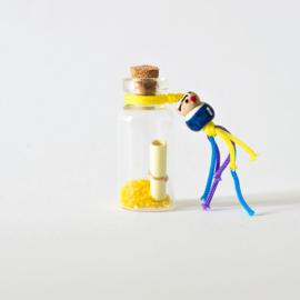 Mini wensflesje geel