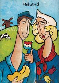 Hollands stel-ansichtkaart
