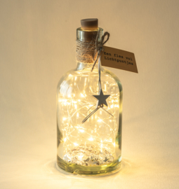 Fles vol lichtpuntjes