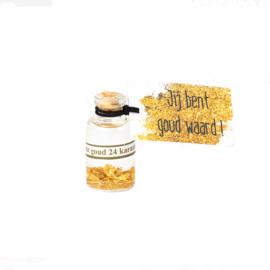 Flesje goud waard klein