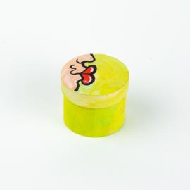 Doosje kusje groen/geel