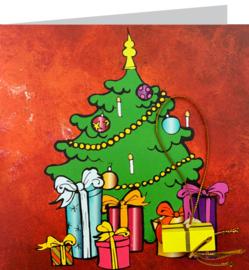 Wenskaart kerstboom kleur