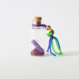 Mini wensflesje paars