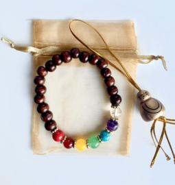 bracelet chakra bois
