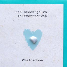Edelsteen kaart Chalcedoon