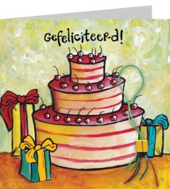 Gefeliciteerd taart