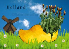 Holland klomp-ansichtkaart