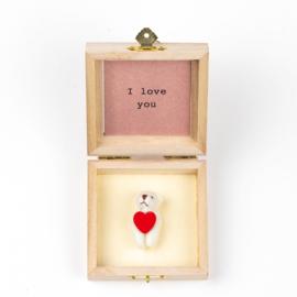 Ours en boîte I love you