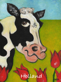 Koe tulpen-ansichtkaart