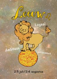 Leeuw-ansichtkaart