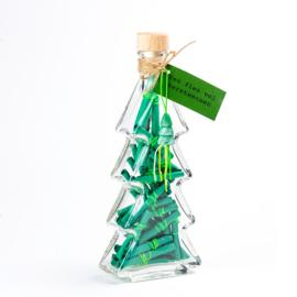 Fles vol kerstwensen kerstboom
