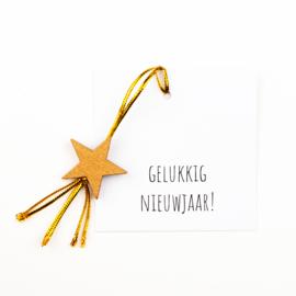 Klein kaartje Gelukkig Nieuwjaar