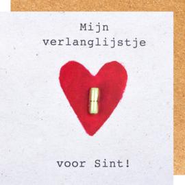 Wenskaart Sinterklaas verlanglijstje.