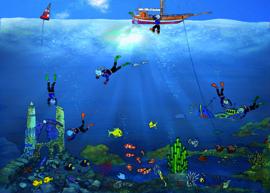 Onderwater kaart