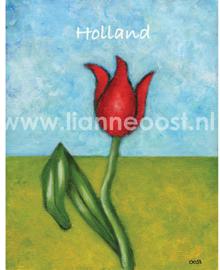 Tulp-ansichtkaart