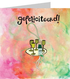 Gelukskaart: Gefeliciteerd