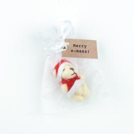 Kerstbeer in zakje merry x-mass