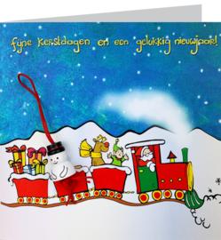 Wenskaart kersttrein