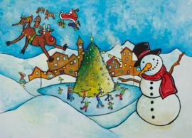 Ansichtkaart sneeuwdorp