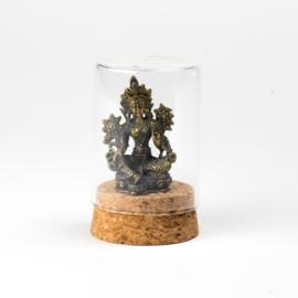 Boeddha metaal stolp XL