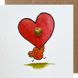 Grußkarte Herz