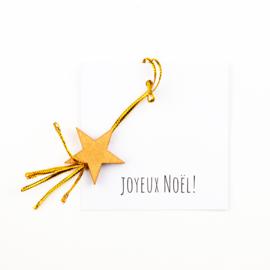Joyeux noël carte étoile