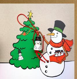 Carte de Noël neige