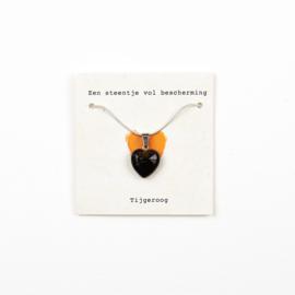 Steentje vol bescherming ketting-Tijgeroog