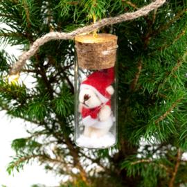 Flacon avec ours de Noël