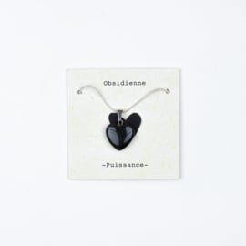 Collier Obsidienne-Puissance