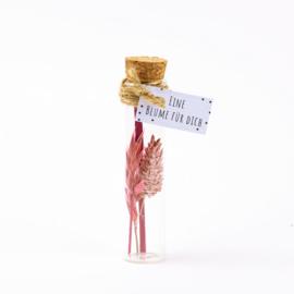 Blumen in Flasche Rosa