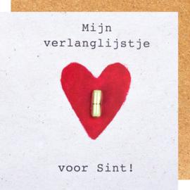 Wenskaart mijn verlanglijstje voor Sint