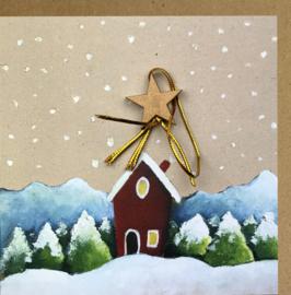 Carte de Noël Maison de Noël