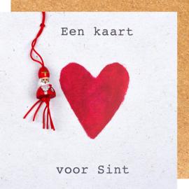 Wenskaart sinterklaas kaart voor Sint