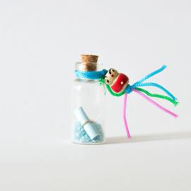 Mini wensflesje lichtblauw