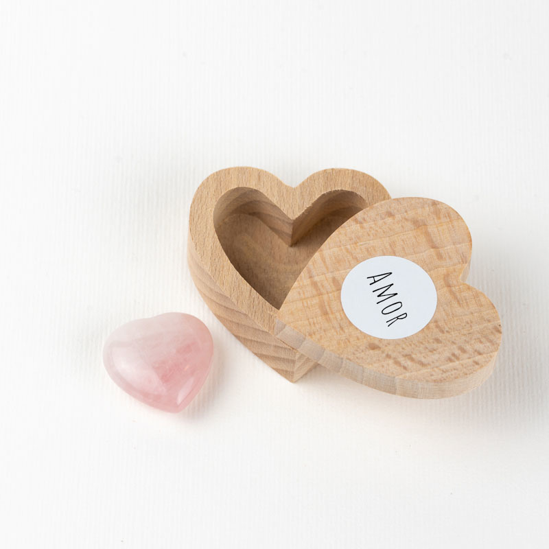 Caja Corazón Cuarzo Rosa