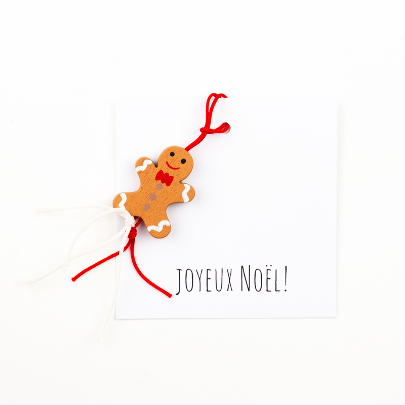 carte joyeux noël gingerbreadman