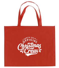 Kerst XXL Shopper CHRISTMAS CREW
