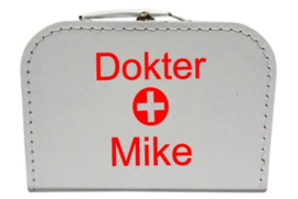 Koffertje DOKTER met eigen naam