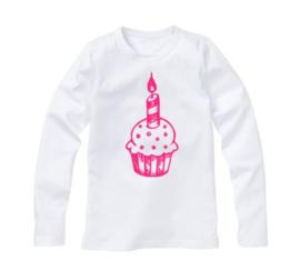 Verjaardagsshirt cup cake