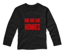 Kerst Shirt HO HO HO HOMIES