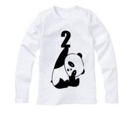 Panda verjaardagsshirt met cijfer