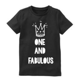 Verjaardagsshirt One and fabulous