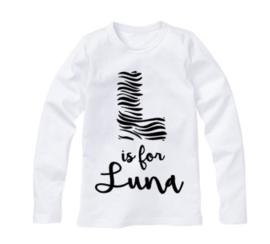 Naam shirt zebra