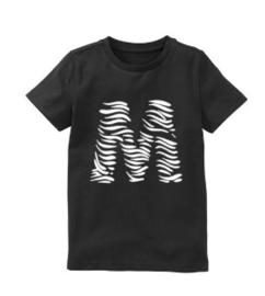 Letter shirt zebra
